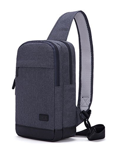 Price comparison product image Tinyat T602 Simplicity Sling Bag Chest Pack Casual Crossbody Travel Shoulder Bag for Women/Men T602, Grey