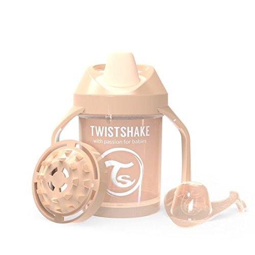 Vaso con boquilla color pastel beige Twistshake 78271