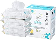 Niki's Natural Baby Wipes | World's First Organic Sensitive Baby Wipes Made with Manuka Honey and Coco