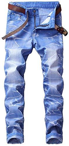 De Straight Essentials Washed Cher Casual Mezclilla Ropa Hombres Mezclilla Pantalones Agujeros ADELINA De Rasgados Retro Pantalones Himmelblau De Jeans Los Muslos Zw6xZUXqz