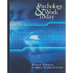 Download Psychology and Work Today 8th (Eighth) Edition bySchultz ebook