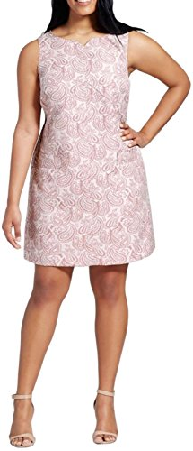 Victoria Beckham Blush Paisley Jacquard Sleeveless Shift Dress - Beckhams Victoria Shop