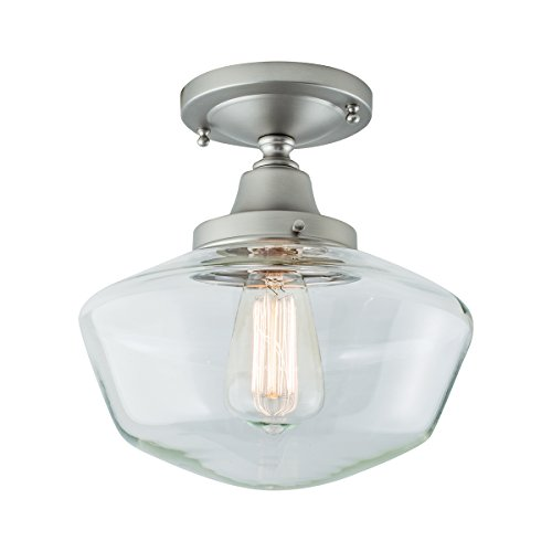 Norwell Lighting 5361F Schoolhouse (Brushed Nickel w/Clear Glass)