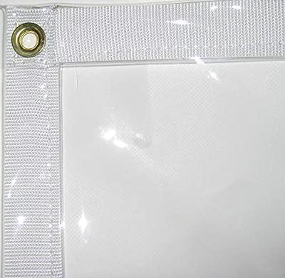 "Canopies and Tarps Clear PVC Vinyl Tarp, 5' x 7' - Tear Resistance with 2"" Wide White Polypropylene Web Hem, Waterproof"