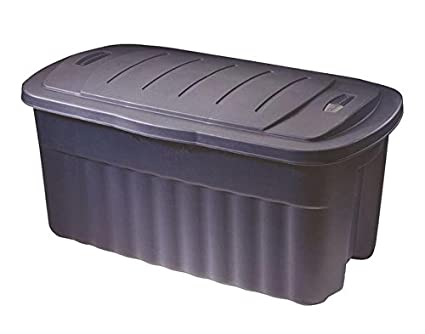 Amazoncom Rubbermaid Roughneck Tote Storage Container Dark