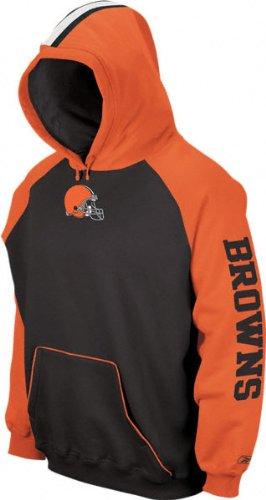 reputable site a58d8 c7a88 Amazon.com : Cleveland Browns -Brown/Orange- Helmet Hoodie ...