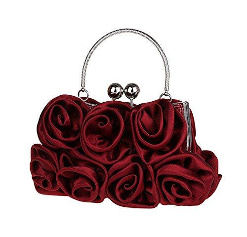 Sac Soyeux de Roses Soir Fleurs Mariage Cabas de zX6xxw8q