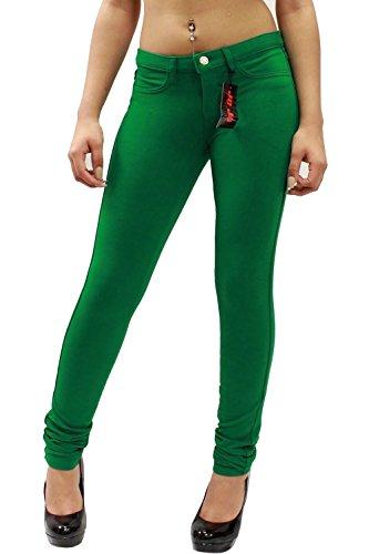 Nuevas mujeres señoras Super elástico Fitted Jeans Jeggings 8–�?6 Jade Green