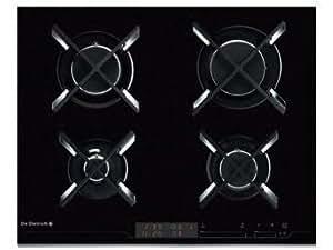 De Dietrich DTG1127X hobs - Placa (Incorporado, Gas, Vidrio, Sensor, 1.5m, 7700W) Negro