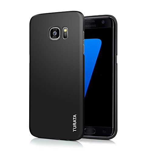 S7 Edge Case Galaxy S7 Edge Case - TURATA Slim fit [Camera Protection] Premium Coated Non Slip Surface Four Layer Paint Designed Case for Samsung Galaxy S7 Edge (Black)