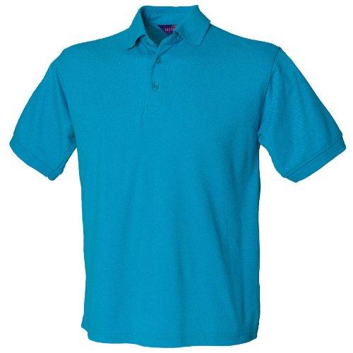 Henbury 65/35-polo Turchese blu