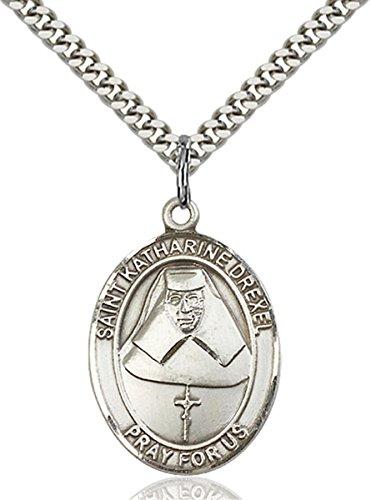 Sterling Silver Saint Katharine Drexel Medal Pendant, 1 - Katharine Pendant Drexel Medal