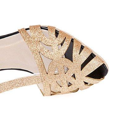 LvYuan Mujer-Tacón Stiletto-Otro-Sandalias-Vestido Informal Fiesta y Noche-Sintético-Plata Oro Gold