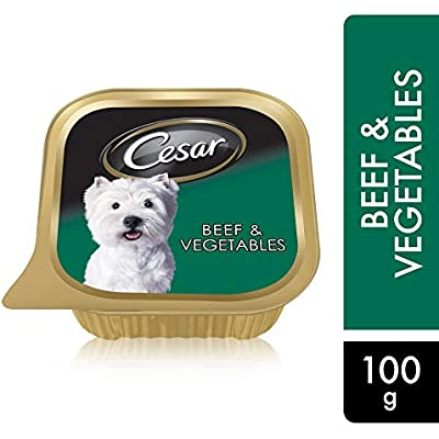 Cesar Dog Food Beef and Vegetable in Meaty Juices for Small Dog 100 Grams