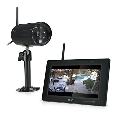 ALC AWS337 Full HD 4-CH 1080p Wireless Surveillance System with 7'' Touch Screen Monitor and 1 Weatherproof Camera by ALC