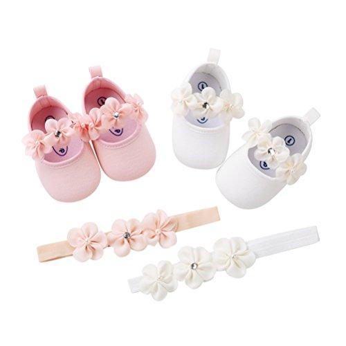 Fascia Battesimo Occasioni Bianco Pezzi Speciali Morbido Per Nuziale Neonata Festa La Bambino Anti 2 Scivolo Scarpe Fiore tH4wqP