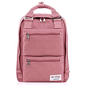 "HotStyle DayBreak Girls Backpack - Waterproof, Multi Pockets, Fits 14"" Laptop"