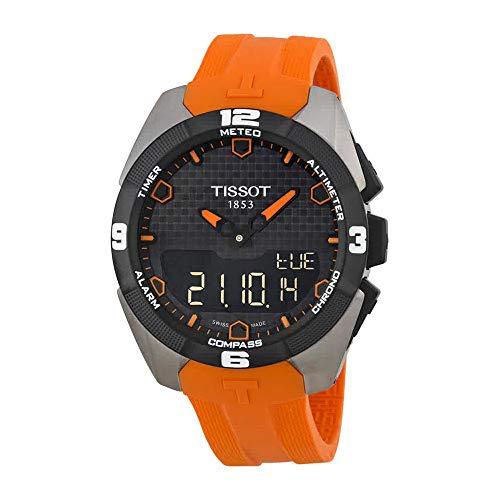 Tissot Men's T0914204705101 Analog-Digital Display Quartz Orange Watch (Watches For Men Touch)