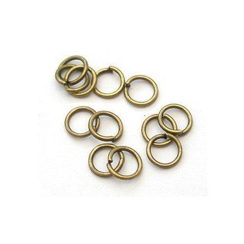 Paquete de 250 bronce, hierro envejecido chapado 1 x 10 mm (anillas abiertas-HA11870)-Charming Beads