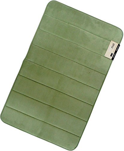 Magnificent 20 X 32 inch Memory Foam Bath Mat, Large, Soft, Non-slip, High Absorbency (Sage - Bath Green Foam