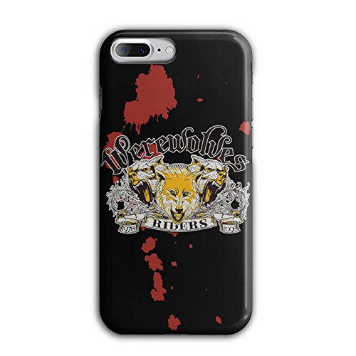 (Werewolves Riders Biker Case for iPhone, 8 Plus Biker Non-Slip Cover - Slim Fit, Comfortable Grip, Protective Case by Wellcoda)