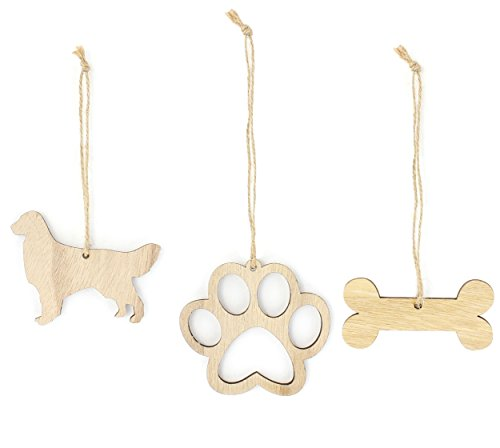 Christmas Stockings Retriever Golden (Golden Retriever Christmas Ornament Dog Lover Gifts Wooden Christmas Ornaments 3-Piece Bundle)