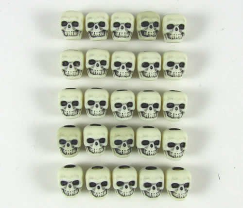 Ivory Skull Counters (25)
