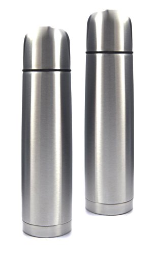 Best 2 Pack Stainless Steel Coffee Travel Thermos 750ml Essential Hot Cold Office Commute Unique Weird Birthday Easter Basket Filler Gift Idea Unisex Colleague Him Dad Boyfriend Coworker