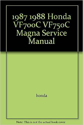 1987 1988 honda vf700c vf750c magna service manual honda amazon 1987 1988 honda vf700c vf750c magna service manual honda amazon books fandeluxe Images