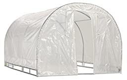 Greenhouse-Weatherguard Walk In Arched Top Garden Hot House Fully Enclosed - Screend Windows for Ventilation, Zippered Door (8\'W x 8\'L x 6\'6\
