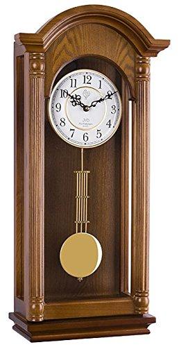 Clásica - Reloj de pared con péndulo colgante reloj roble Westminster Regulateur cuarzo Nuevo: Amazon.es: Hogar