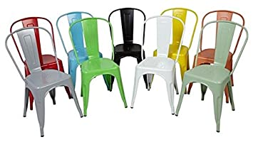 Tolix Chaise Xavier Pauchard blanc vert jaune rouge Noir Orange ...