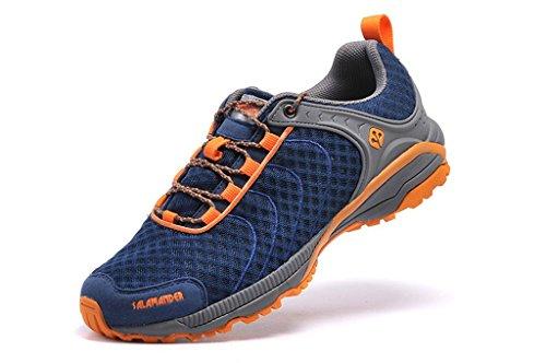 Senximaoyi Förhindra Hala Slitstarka Läger Vandringsskor Reser Bergsbestigning Jogging Skor, Orange, 7