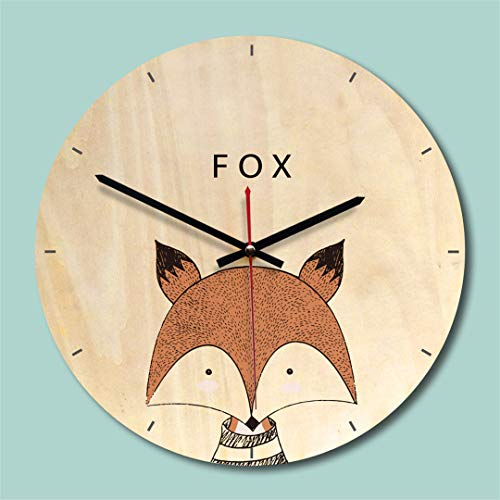 Amazon.com: SHFISIKI Creative Wooden Wall Clock Modern Design Living Room Wall Watch Mute Quartz Reloj De Pared Decorativo Pink: Home & Kitchen