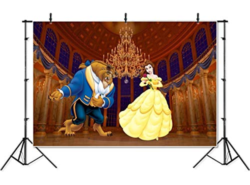 7×5 Beauty and The Beast Backgrounds for Photography Gold Palace Photo  Backdrop Baby Shower Photographic Background Vinyl for Birthday Party 972d636a7afa
