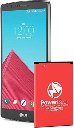 PowerBear LG G4 Battery | 3000mAh Li-Ion Battery for The G4 [US991, H812, H815, AT&T H810, T-Mobile H811, Sprint LS991, Verizon VS986] | LGG4 Spare Battery
