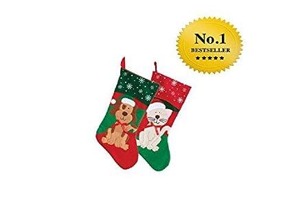 2 pack christmas house pet christmas stockings 18 inch 1 dog and 1 - Amazon Christmas Stockings