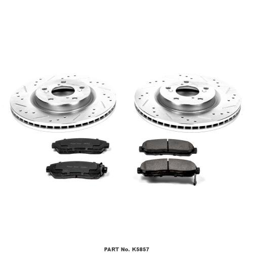 Power Stop K5857 Front Z23 Evolution Brake Kit with Drilled/Slotted Rotors and Ceramic Brake Pads