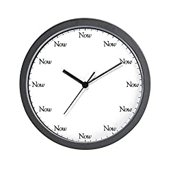 CafePress The Now Unique Decorative 10 Wall Clock