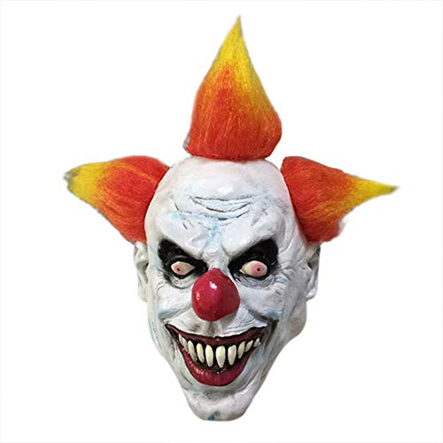 Halloween Men's Smiffy Pennywise Costume Cosplay Scary Clown Mask -