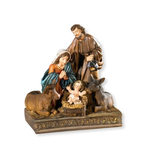AT001 Catholic & Religious Nativity With Animals Figurine
