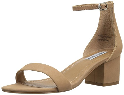 Steve Madden Women's Ireneew Dress Sandal, Tan Nubuck, 9.5 W US