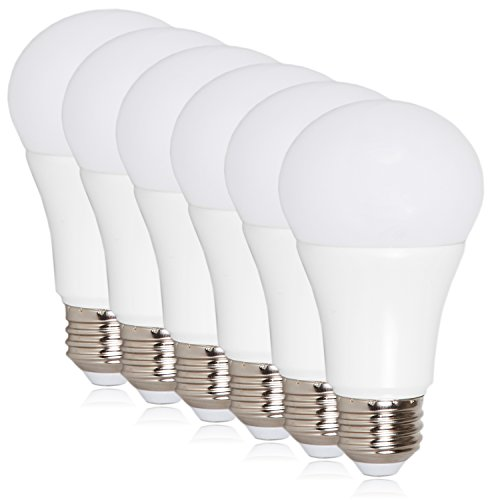 Maxxima LED A19-800 Lumens 60 Watt Equivalent Warm White (2700K) Light Bulb, 10 Watts (Pack of 6)