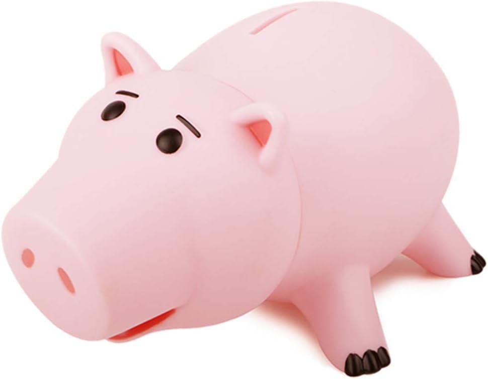 FunnyToday365 Animal Piggy Bank Saving Coin Money Box Toy Story Hamm Piggy Bank Pink Pig Coin Money Box Kids Great Gift