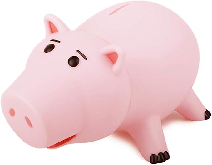 Guajave Transparent Plastic Coins Savings Box Piggy Shape Money Box Piggy Bank for Coins Cash Green, Small