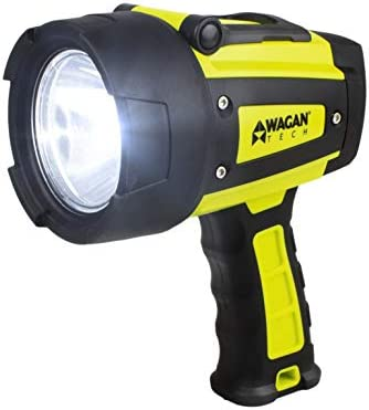 Wagan 4322 Brite-Nite WR600 Waterproof LED Rechargeable Spotlight, Yellow
