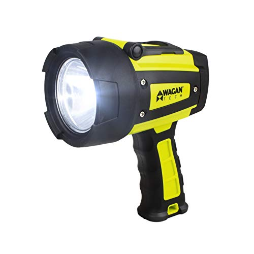 Wagan Tech 4322 Brite-Nite WR600 Waterproof LED Rechargeable Spotlight, Yellow