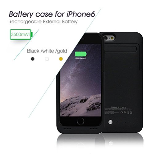 Power Case® iphone 6/6s BLACK 3500mAh External Battery 4.7