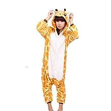 WOTOGOLD Aniaml Cosplay Costumes Giraffe Men Women Pajamas Brown