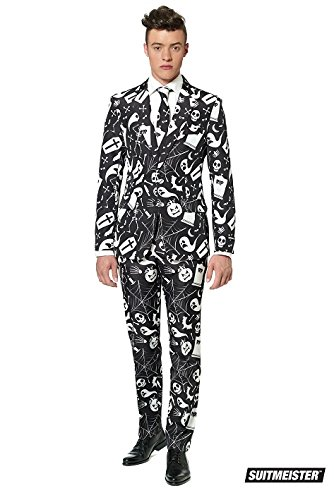 Mens Halloween Suits (SuitMeister Halloween Icons Black Suit Large (42-44))